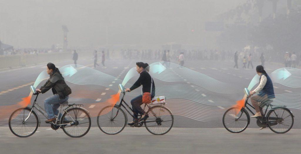 Daan Roosegaarde en zijn Smog Free Bicycle Concept - trappen voor frisse lucht